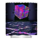 Time Cube Shower Curtain