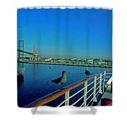 Time For A Cruise Shower Curtain