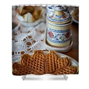Time For Waffle Shower Curtain