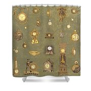 Time Keeps On Ticking Shower Curtain