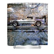 Time Machine Or The Retrofitted Delorean Dmc-12 Shower Curtain