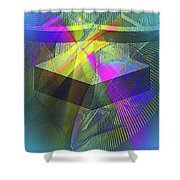 Time Machne Shower Curtain