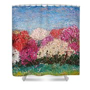 Time Of Rhododendron Shower Curtain