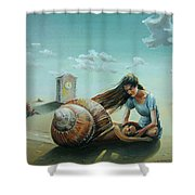 Time Of The Snail Shower Curtain