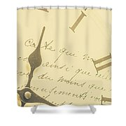Time Signatures Shower Curtain