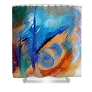 Time Spiral Shower Curtain