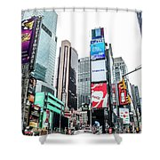Time Square Shower Curtain