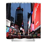 Time Square New York City Shower Curtain