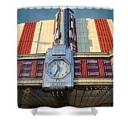 Time Theater Marquee 1938 Shower Curtain