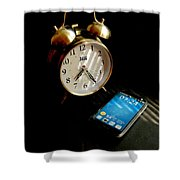 Time Then And Now Shower Curtain