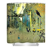 Time To Bike Shower Curtain