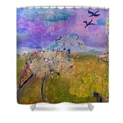 Time To  Feel The Breeze Shower Curtain