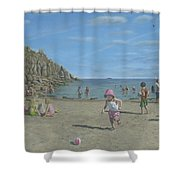 Time To Go Home - Porthgwarra Beach Cornwall Shower Curtain