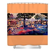 Time To Relax And Have Some Fun Shower Curtain