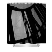 Time Travel - Bromo Seltzer Tower Baltimore  Shower Curtain by Marianna Mills