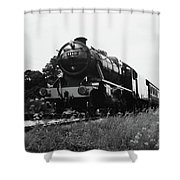 Time Travel By Steam B/w Shower Curtain