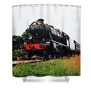 Time Travel By Steam Shower Curtain by Martin Howard