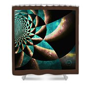 Time Travel Galaxy Portal To The Stars - Teal Green Shower Curtain