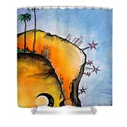 Time Travel Is Possible. Irrational Space Shower Curtain
