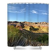 Time Washed Shower Curtain
