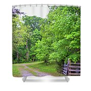 Time Worn Gate Shower Curtain
