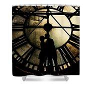 Timeless Love - Golden Brown Shower Curtain