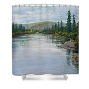 Timeless Tanquility IIi Shower Curtain