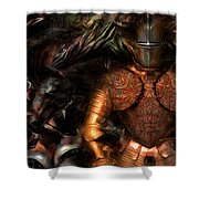 Times For Heroes  Shower Curtain