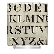 Times New Roman Shower Curtain