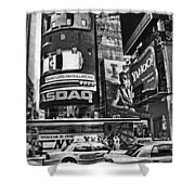 Times Square Black And White Shower Curtain