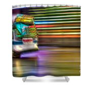 Times Square Bus Shower Curtain