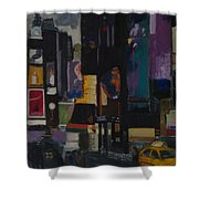 Times Square Crossing Shower Curtain