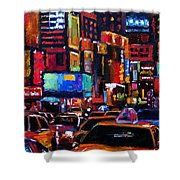 Times Square Shower Curtain by Debra Hurd