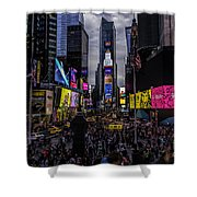Times Square From The Steps Shower Curtain