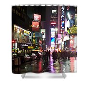 Times Square In The Rain 1 Shower Curtain