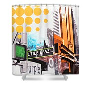Times Square Little Brazil Shower Curtain