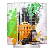 Times Square Ny Advertise Shower Curtain
