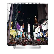 Times Square On A Tuesday. Shower Curtain