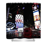 Times Square On News Year Eve Shower Curtain