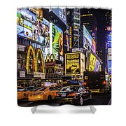 Times Square Pano Shower Curtain