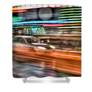 Times Square Traffic Shower Curtain