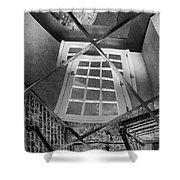 Time's Up - Black And White Shower Curtain