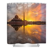 Timeslice A Day To Night Of By The Lake Shower Curtain