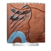 Timid - Tile Shower Curtain