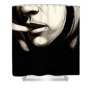 Timid Shower Curtain