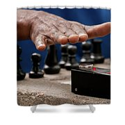 Timing The Chess Move Shower Curtain