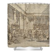 Timotheus Playing The Lyre Before Alexander And Tha?s In The Hall Of The Palace At Persepolis Shower Curtain