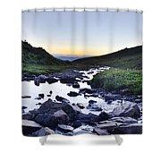 Timpanogos Stream Shower Curtain