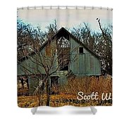 Tin Barn Shower Curtain