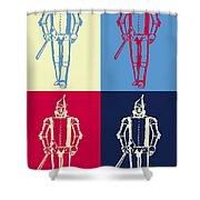 Tin Man Pop Art Poster Shower Curtain